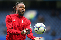 Watford's Nathaniel Chalobah, warms up ahead of kick-off during Chelsea vs Watford, Premier League Football at Stamford Bridge on 5th May 2019