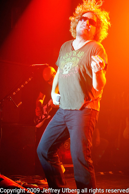 """May 28, 2009 New York: Singer Sammy Hagar of Chickenfoot performs """"Irving Plaza"""" on May 28, 2009 in New York."""