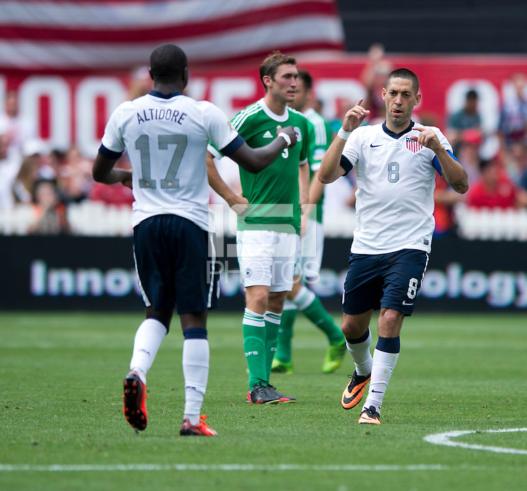 Clint Dempsey, Jozy Altidore. The USMNT defeated Germany, 4-3, during an international friendly match held at RFK Stadium in Washington, DC.