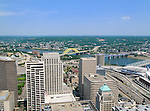 View of downtown Cincinnati and the Ohio River..