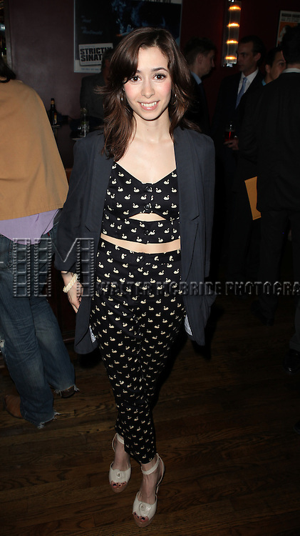 Cristin Milioti .attending the New York Drama Critics' Circle Awards at Angus McIndoe in New York City on 5/14/2012.
