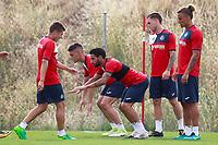 Getafe CF's Emiliano Velazquez, Chuli,  Alvaro Jimenez and Rolf Feltscher during training session. August 1,2017.(ALTERPHOTOS/Acero) /NortePhoto.com