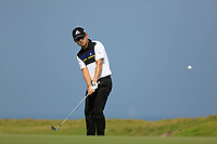 Seungsu Han (USA) during the first round of the NBO Open played at Al Mouj Golf, Muscat, Sultanate of Oman. <br /> 15/02/2018.<br /> Picture: Golffile   Phil Inglis<br /> <br /> <br /> All photo usage must carry mandatory copyright credit (&copy; Golffile   Phil Inglis)