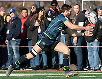 WASHINGTON, DC - FEBRUARY 16: JP Smith #9 of the Seattle Seawolves reaches for a pass during a game between Seattle Seawolves and Old Glory DC at Cardinal Stadium on February 16, 2020 in Washington, DC.