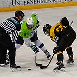 06.04.2019, BLZ Arena, Füssen / Fuessen, GER, FSP, U18, Deutschland (GER) vs Slowenien (SLO), <br /> im Bild Zan Primozic (SLO, #11), Justin Volek (GER, #28)<br /> <br /> Foto © nordphoto / Hafner