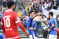 Brescia 30/09/2017 - campionato di calcio serie B / Brescia - Perugia / foto Matteo Gribaudi/Image Sport/Insidefoto<br /> nella foto: Andrea Caracciolo-Edoardo Lancini