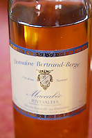 Maccabeo, Maccabeu, Rivesaltes Vin Doux Naturel VDN Domaine Bertrand-Berge In Paziols. Fitou. Languedoc. France. Europe. Bottle.
