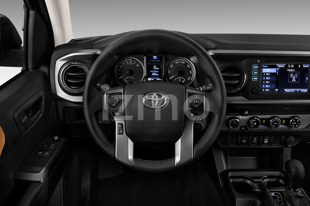Car pictures of steering wheel view of a 2016 Toyota Tacoma SR5 Access Cab 4 Door Pick Up