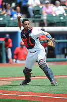 Brooklyn Cyclones catcher Adrian Abreu (2) during game against the Williamsport Crosscutters at MCU Park on July 21, 2014 in Brooklyn, NY.  Brooklyn defeated Williamsport  5-2.  (Tomasso DeRosa/Four Seam Images)