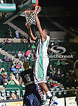 North Texas Mean Green guard Jordan Williams (23) in action during the NCAA  basketball game between the St. Gregory Cavilers and the University of North Texas Mean Green at the North Texas Coliseum,the Super Pit, in Denton, Texas. UNT defeated St. Gregory's 81 to 52...