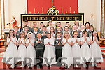 Dromclough MN Communion; M/s Foran's class from Dromclough NS, Listowel who received their 1st communion from Fr. Mossie Brick, PP Lixnaw in Irremore church on Saturday last.