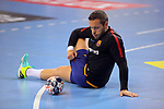 VELUX EHF 2017/18 EHF Men's Champions League Group Phase - Round 11.<br /> FC Barcelona Lassa vs HC Vardar: 29-28.<br /> Victor Tomas.