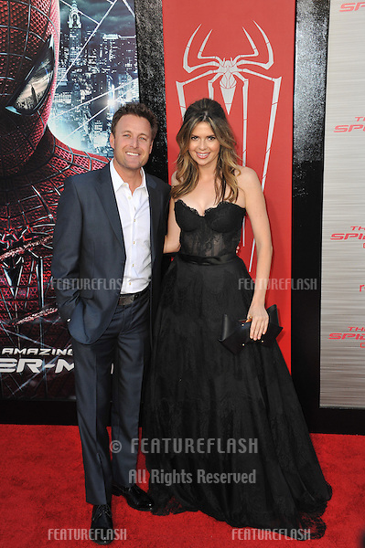 "Carly Steel & Chris Harrison at the world premiere of ""The Amazing Spider-Man"" at Regency Village Theatre, Westwood..June 29, 2012  Los Angeles, CA.Picture: Paul Smith / Featureflash"