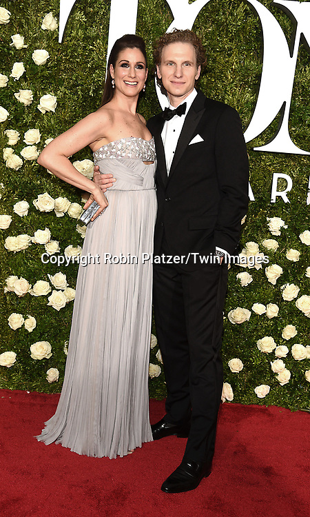 Stephanie J Block and Sebastian Arcelus attends the 71st Annual  Tony Awards on June 11, 2017 at Radio City Music Hall in New York, New York, USA.<br /> <br /> photo by Robin Platzer/Twin Images<br />  <br /> phone number 212-935-0770