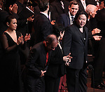 Lea Salonga, Stephen Flaherty, Terrence McNally, Lynn Ahrens & Stafford Arima with Company during the Curtain Call for the Manhattan Concert Production of 'Ragtime - In Concert' at Avery Fisher Hall in New York City on 2/18/2013