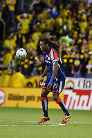 25 OCTOBER 2009:  Shalrie Joseph of the New England Revolution (21) during the New England Revolution at Columbus Crew MLS game in Columbus, Ohio on October 25, 2009.