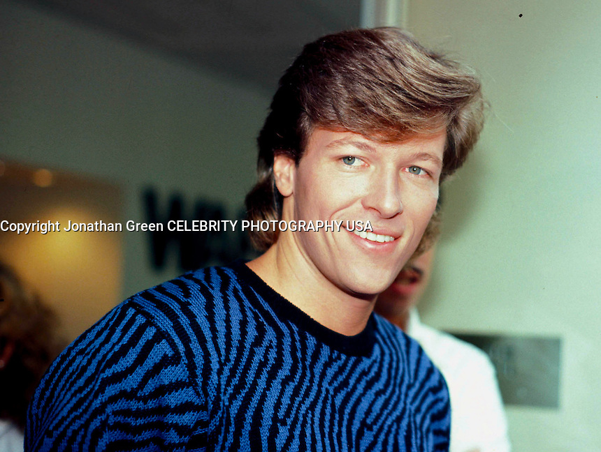 Jack Wagner ABC Studios NYC<br /> 1984 By Jonathan Green