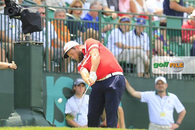 Andrew Johnston (ENG) tees off the 12th tee during Wednesday's Practice Day of the 2016 U.S. Open Championship held at Oakmont Country Club, Oakmont, Pittsburgh, Pennsylvania, United States of America. 15th June 2016.<br /> Picture: Eoin Clarke | Golffile<br /> <br /> <br /> All photos usage must carry mandatory copyright credit (&copy; Golffile | Eoin Clarke)