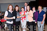 Staff of the Killorglin brach of Tralee Credit Union attending the Woman 2000 coffee morning last Friday at the CYMS hall with members of Woman 2000<br /> l-r Sinead McCarthy, Helen Geary, Nuala Curran, Siobhan Kelly, Patrick Burke, Christina Foley and Bridie Purcell.