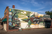Native American Mural in Dequeen Arkansas located across the street from the Sevier County Courthouse.