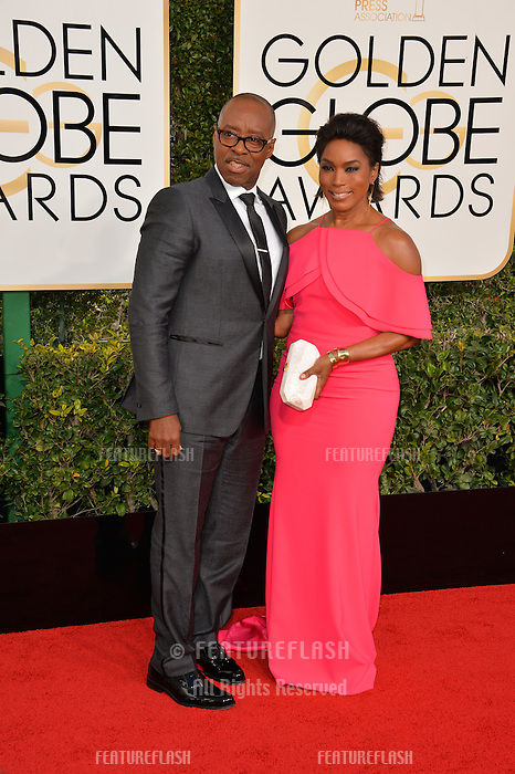 Angela Bassett &amp; Courtney B. Vance at the 74th Golden Globe Awards  at The Beverly Hilton Hotel, Los Angeles USA 8th January  2017<br /> Picture: Paul Smith/Featureflash/SilverHub 0208 004 5359 sales@silverhubmedia.com