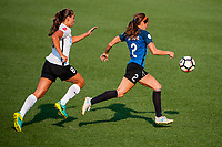 Kansas City, MO - Sunday September 3, 2017: Erica Skroski, Shea Groom during a regular season National Women's Soccer League (NWSL) match between FC Kansas City and Sky Blue FC at Children's Mercy Victory Field.