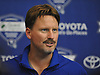 Ben McAdoo, New York Giants head coach, speaks with the media after practice at Quest Diagnostics Training Center in East Rutherford, NJ on Monday, Aug. 29, 2016.