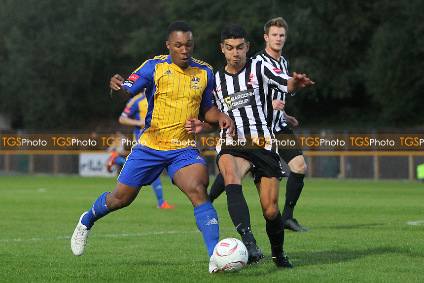 Ryan Imbert in action for Romford - Romford vs Dereham Town - Ryman League Divison One North Football at Ship Lane, Thurrock FC, Purfleet, Essex - 20/08/14 - MANDATORY CREDIT: Gavin Ellis/TGSPHOTO - Self billing applies where appropriate - contact@tgsphoto.co.uk - NO UNPAID USE