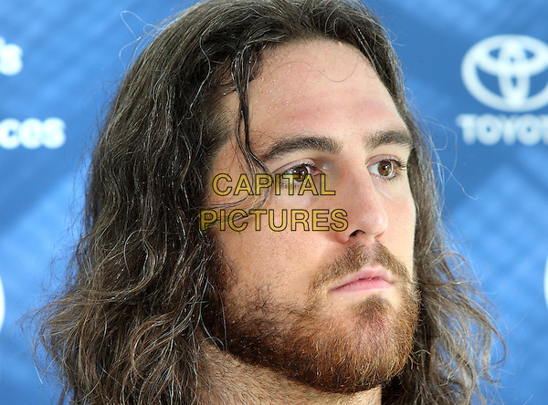Anthony Castonzo at the Indianapolis Colts Press Conference at The Grove Hotel, Chandlers Cross, Watford, Herts. Indianapolis are here to play in the latest NFL International Series game at Wembley Stadium vs Jacksonville Jaguars on Sunday October 2nd 2016 - Pictured on September 30th 2016<br /> CAP/JIL<br /> &copy; Jill Mayhew/Capital Pictures