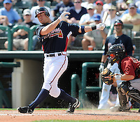 15 March 2009: Brandon Hicks in a game between the Atlanta Braves and Houston Astros at the Braves' Spring Training camp at Disney's Wide World of Sports in Lake Buena Vista, Fla. Photo by:  Tom Priddy/Four Seam Images