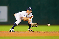 Shortstop Shane Hoelscher #2 of the Rice Owls fields a ground ball against the Kentucky Wildcats at Minute Maid Park on March 4, 2011 in Houston, Texas.  Photo by Brian Westerholt / Four Seam Images