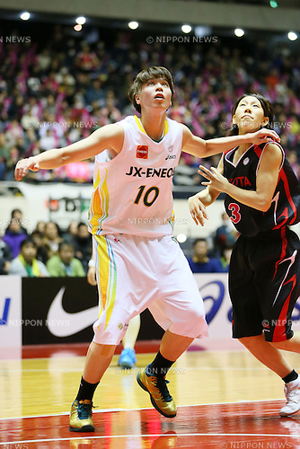 Ramu Tokashiki (Sunflowers), <br /> JANUARY 12, 2014 - Basketball : <br /> All Japan Basketball Championship 2014 <br /> Empress's Cup Final <br /> between JX-ENEOS Sunflowers 69-61 TOYOTA Antelopes <br /> at 1st Yoyogi Gymnasium, Tokyo, Japan. <br /> (Photo by YUTAKA/AFLO SPORT)