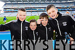 Denis Horgan, Fionan Egan, Sean Brosnan and Nathan O'Driscoll Ardfert supporters at the Intermediate All Ireland Club Final in Croke Park on Saturday.