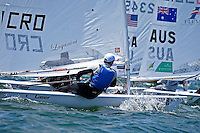 Laser / Filip JURI&Scaron;IC (CRO)<br /> ISAF Sailing World Cup Final - Melbourne<br /> St Kilda sailing precinct, Victoria<br /> Port Phillip Bay Tuesday 6 Dec 2016<br /> &copy; Sport the library / Jeff Crow