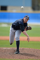 Pitcher Jordan Cote (67) of the New York Yankees organization during a minor league spring training game against the Toronto Blue Jays on March 16, 2014 at the Englebert Minor League Complex in Dunedin, Florida.  (Mike Janes/Four Seam Images)