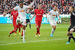 05.10.2019, BayArena, Leverkusen, GER, 1. FBL, Bayer 04 Leverkusen vs. RB Leipzig,<br />  <br /> DFL regulations prohibit any use of photographs as image sequences and/or quasi-video<br /> <br /> im Bild / picture shows: <br /> Christopher Nkunku (RB Leipzig #18),  macht das 1:1<br /> <br /> Foto © nordphoto / Meuter1