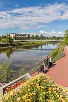 Interior Alaska's golden heart city of Fairbanks, Alaska