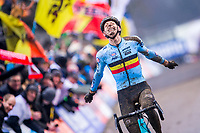 Picture by Alex Whitehead/SWpix.com - 04/02/2018 - Cycling - 2018 UCI Cyclo-Cross World Championships - Valkenburg, The Netherlands - Belgium's Michael Vanthourenhout wins Silver in the Elite Men's race.