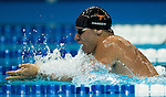 02 July 2008-- USA Swimming 2008 Olympic Swim Trials. Brenden Hansen competes in the 200-meter breaststroke semifinal during the 2008 Olympic Swim Trials in Omaha, Neb. on Wednesday July 2. PHOTO/Daniel Johnson