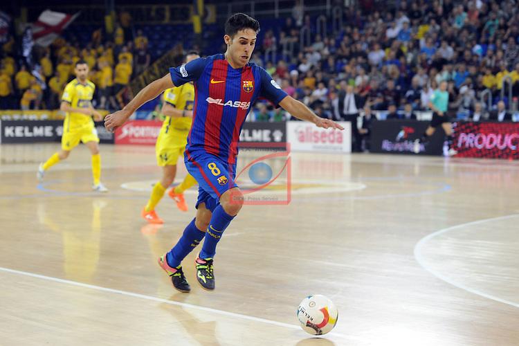 League LNFS 2016/2017 - Game 4.<br /> FC Barcelona Lassa vs Gran Canaria FS: 4-2.<br /> Adolfo Fernandez.