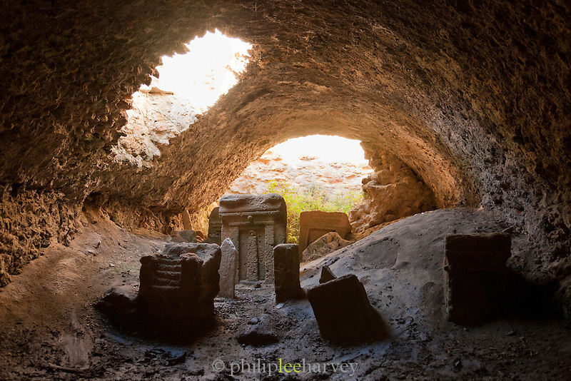 Inside a cave, childs graveyard, Carthage, Tunisia