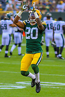 Green Bay Packers cornerback Kevin King (20) during a preseason football game against the Philadelphia Eagles on August 10, 2017 at Lambeau Field in Green Bay, Wisconsin. Green Bay defeated Philadelphia 24-9.  (Brad Krause/Krause Sports Photography)