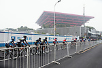 The riders in action during the 2017 Tour de France Skoda Shanghai Criterium, Shanghai, China. 29th October 2017.<br /> Picture: ASO/Pauline Ballet | Cyclefile<br /> <br /> <br /> All photos usage must carry mandatory copyright credit (&copy; Cyclefile | ASO/Pauline Ballet)