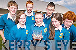 SCIENCE BUFFS:  Front l-r: Catherine Mannix, Cara Enright and Sarah Buckley. Back l-r: Finbarr Hussey, Fearghal Fitzgibbon, Dan McCarthy and Cathal O'Donnell.   Copyright Kerry's Eye 2008