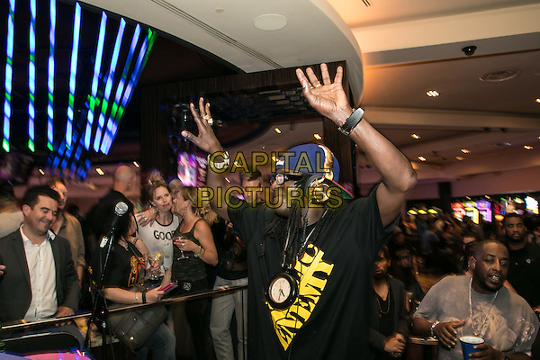 LAS VEGAS, NV - May 21, 2016: ***HOUSE COVERAGE*** William Jonathan Drayton Jr. AKA Flavor Flav DJ set at The Center Bar at Hard Rock Hotel &amp; Casino in Las vegas, NV on March 21, 2016. <br /> CAP/MPI/GDP<br /> &copy;GDP/MPI/Capital Pictures