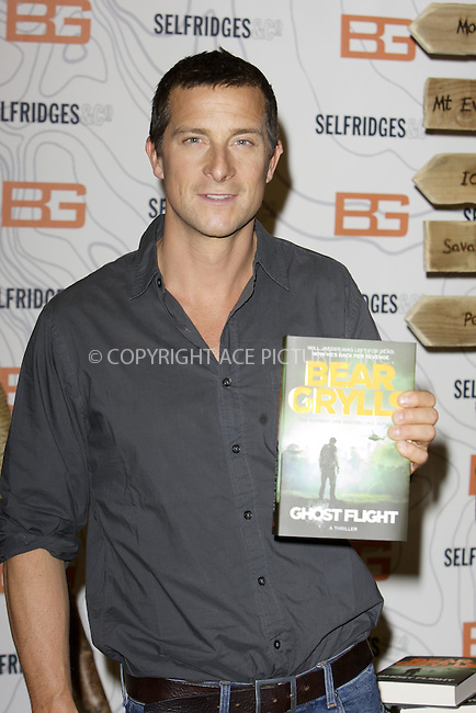 WWW.ACEPIXS.COM<br /> <br /> June 4 2015, London<br /> <br /> Bear Grylls launches his new book &quot;Ghost Flight&quot; at Selfridges on June 4 2015  in London<br /> <br /> By Line: Famous/ACE Pictures<br /> <br /> <br /> ACE Pictures, Inc.<br /> tel: 646 769 0430<br /> Email: info@acepixs.com<br /> www.acepixs.com