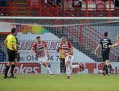 2nd February 2019, Hope CBD Stadium, Hamilton, Scotland; Ladbrokes Premiership football, Hamilton Academical versus Dundee; Darian MacKinnon of Hamilton Academical celebrates after scoring for 1-1 in the 90th minute