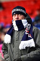 A Bolton Wanderers fan looks on<br /> <br /> Photographer Richard Martin-Roberts/CameraSport<br /> <br /> The EFL Sky Bet Championship - Bolton Wanderers v Preston North End - Saturday 9th February 2019 - University of Bolton Stadium - Bolton<br /> <br /> World Copyright © 2019 CameraSport. All rights reserved. 43 Linden Ave. Countesthorpe. Leicester. England. LE8 5PG - Tel: +44 (0) 116 277 4147 - admin@camerasport.com - www.camerasport.com