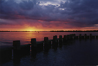 Photo of Sunset on Charleston Harbor in Charleston, South Carolina
