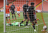 Blackpool's Jay Spearing scores his side's second goal  from a penalty kick rebound<br /> <br /> Photographer Rachel Holborn/CameraSport<br /> <br /> The EFL Sky Bet League One - Blackpool v Bradford City - Saturday September 8th 2018 - Bloomfield Road - Blackpool<br /> <br /> World Copyright &copy; 2018 CameraSport. All rights reserved. 43 Linden Ave. Countesthorpe. Leicester. England. LE8 5PG - Tel: +44 (0) 116 277 4147 - admin@camerasport.com - www.camerasport.com